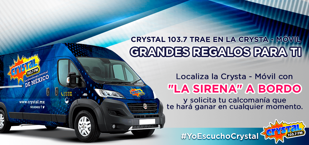 Estaremos Pegando Calcomanías de Crystal 103.7