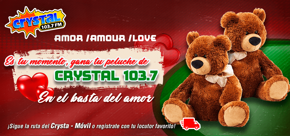 Regalaremos Crysta Peluches del 103.7